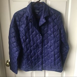 LL Bean Purple Quilted Coat